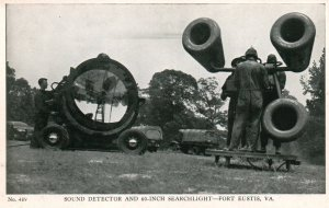 Sound Detector and 60 Inch Searchlight,Fort Eustis,VA