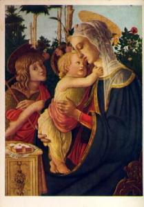 POSTAL 57153: Sandro Botticelli The Virgin the child Jesus and St John