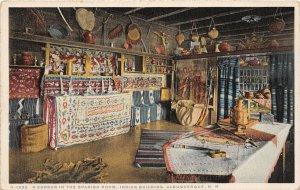 G44/ Albuquerque New Mexico Postcard Interior Fred Harvey Spanish Room Indian 1