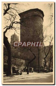 Old Postcard Rodez Tower Corbieres