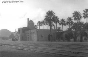 Claremont California 1966 Southern Pacific train depot real photo pc Z49789