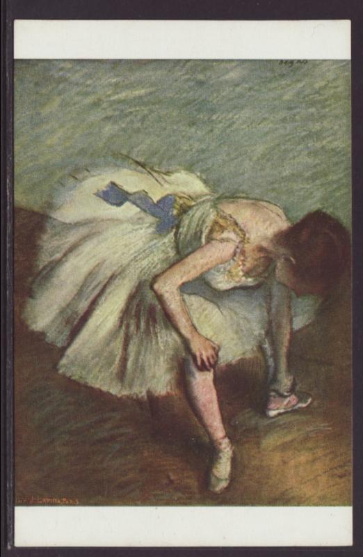 Dancer Tying Her Sandal,Degas,Painting Postcard