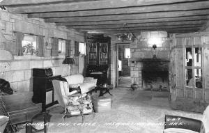 Eureka Springs Arkansas~Inspiration Point Castle~Lounge~1955 Real Photo~RPPC