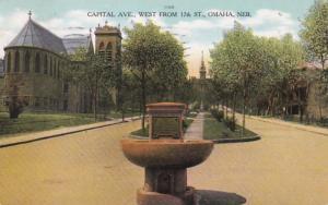 Nebraska Omaha Capitol Avenue West From 17th Street 1908 Curteich