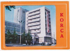 KORCA, Albania, 1950-1970's; Pamjemga Hotel, Classic Cars
