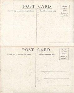 (5 cards) Walworth NY New York Street Scenes High Church Main Rochester Academy