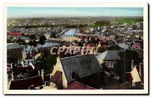 Old Postcard Panorama Vierzon to Canal