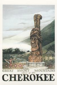 CHEROKEE , North Carolina, 1990s; Great Smoky Mountains, Land of the Cherokee