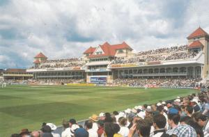 The New Radcliffe Stand Opening 1998 Nottingham Cricket Souvenir Postcard