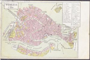 VENICE - VERY early map showing Venezia or Venice, 1900s