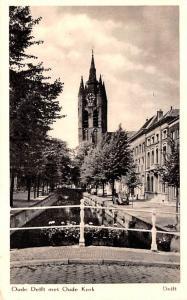 Delft Holland Oude Delft Met Oude Kerk Delft Oude Delft Met Oude Kerk