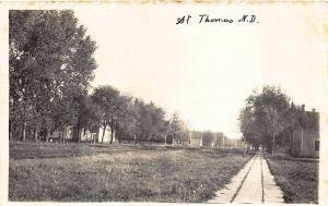 St Thomas ND Street Scene HOME_MADE Real Photo Postcard