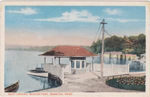Boat Landing, Beacon Park, Webster, Massachusetts, 1910-1920s