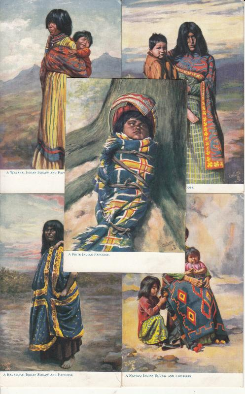 Native Americana indian native women and papoose Mohave Walapai Navajo Piute
