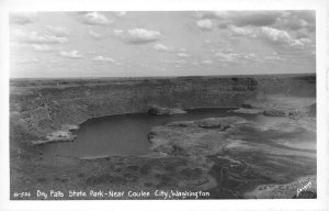 RPPC DRY FALLS STATE PARK Near Coulee City, WA Sawyers c1940s Vintage Postcard