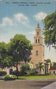 Florida Winter Park Knowles Memorial Chapel Rollins College 1952