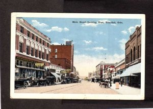 CO Main St Trinidad Colorado Postcard Kress & Co Dept Store Old Cars