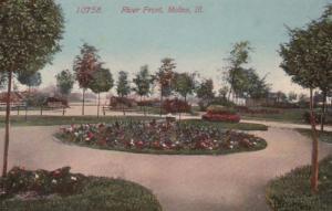 Illinois Moline River Front Scene