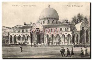 Marseille - Colonial Exhibition - Palace of Madagascar - Old Postcard