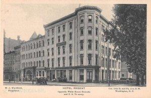 Washington DC Hotel Regent Opposite White House Street Scene Postcard AA20940