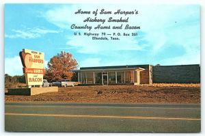 Postcard TN Ellendale Sam Harper's Hickory Smoked Country Ham & Bacon Shop R50