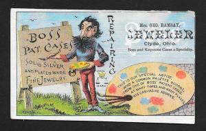 VICTORIAN TRADE CARD G Ramsay Jeweler Boss Watch Cases