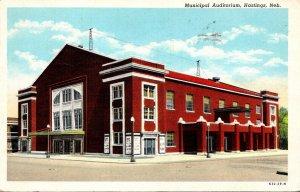 Nebraska Hastings Municipal Auditorium 1943 Curteich