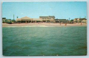 Postcard DE Rehoboth Beach Strauss Amusement Section Franklins Pop Moore's AE11