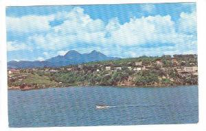 View from ship on Martinique and Mont Pelee,Martinique,West Indies,40-60s