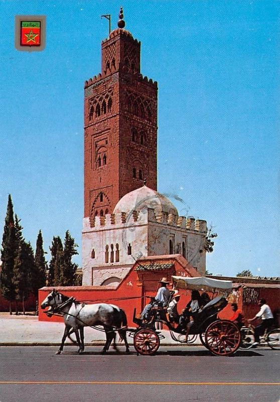 Marrakech La Koutoubia Horse Carriage Ride Cyclist Tower