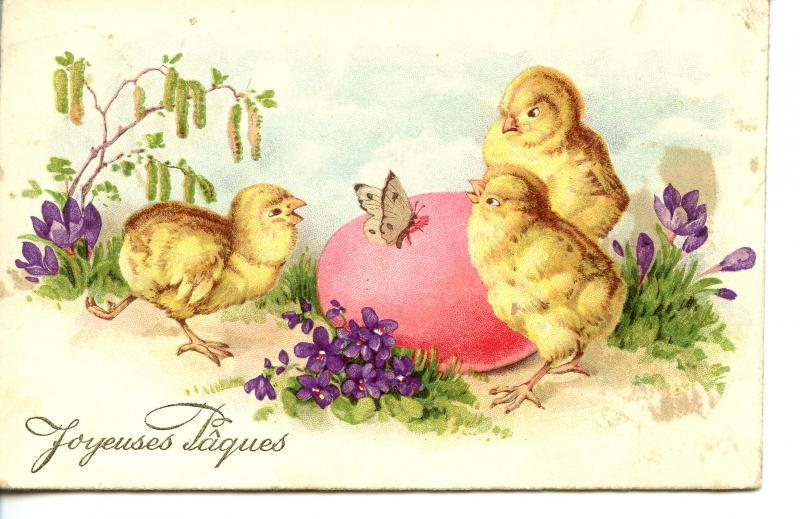 FRANCE   PC421    HAPPY EASTER
