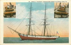 Military, Flagship, Niagara, Rebuilt, Commodore Perry, M.E. Hamm