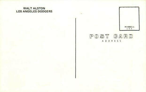 Baseball, Walt Alston, Los Angeles Dodgers, No. KV8861-1