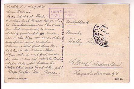 Teplitz Schonau, Czech Republic, Used 1929