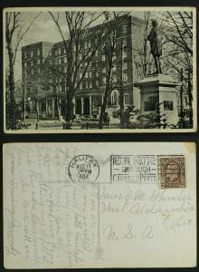 Lord Nelson Hotel Halifax NS slogan cancel GeoV 1934