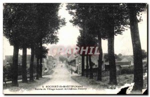Old Postcard Rocourt St Martin Aisne Entree Village from Chateau Thierry