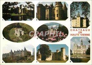 Postcard Modern Castles in Haute Vienne