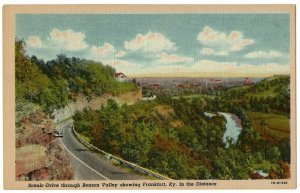Benson Valley Frankfort Kentucky - Vintage Curt Teich Linen Postcard