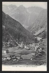 Village at Mountain Base Trient la route de Tete-Noire SWITZERLAND Unused c1910s