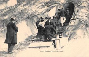 Eigergletscher Switzerland Eisgrotte Glacier Tunnel Antique Postcard J50330