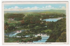 Panorama Lake Whitney New Haven Connecticut 1930s postcard