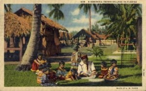 A Seminole Indian Villiage - Misc, Florida FL