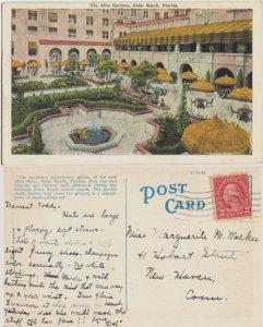 PALM BEACH, gorgeous view of ALBA GARDENS  at the Alba Hotel, NOW CONDOS 1920s