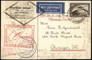 Germany 1930 1931 Dornier DO-X Cover 1st Flight Brazil and Chicago Friedri 74105