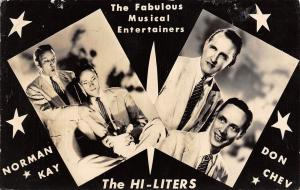 Musical Entertainers~The Hi-Liters~Norman Kay~Don Chev~Crystal Ball~c1950 RPPC