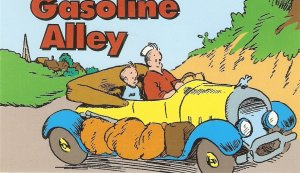 Frank King. Gasoline Alley cartoon USPS postcard with stamp on back side