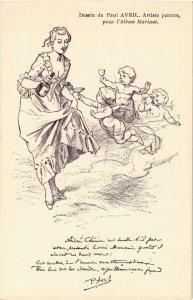 PC CPA ADVERTISING, MARIANI, DESSIN DE PAUL AVRIL, VINTAGE POSTCARD (b18099)