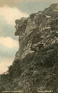 NH - Franconia Notch. Old Man of the Mountains  (Hand colored)