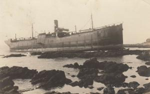 RP; KENNEBUNKPORT , Maine , 1921 ; Shipwreck of S.S. WANDBY #3