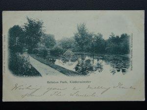 Worcestershire KIDDERMINSTER Brinton Park c1902 UB Postcard by Valentine